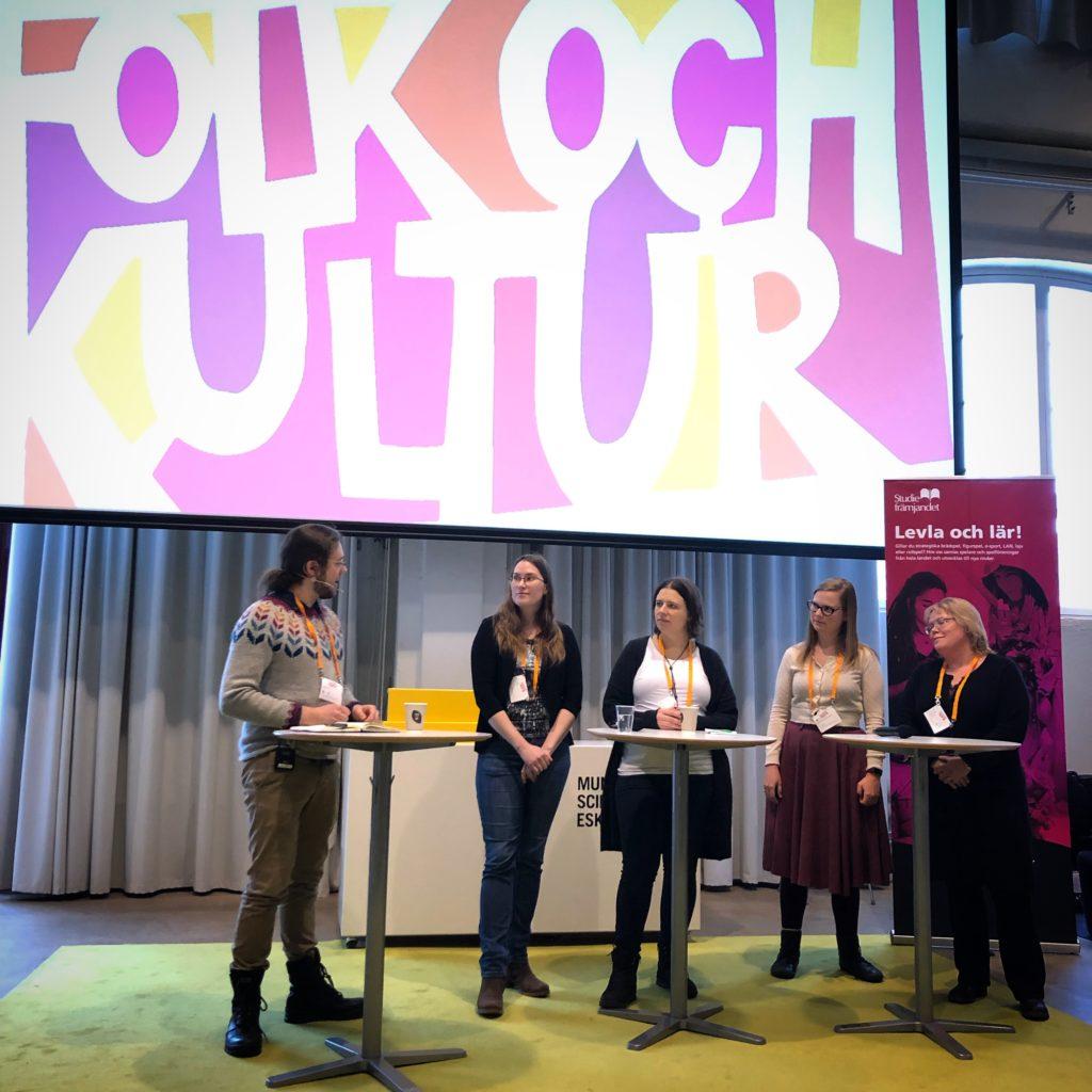 Åsa Kratz (S) i panel om spelkultur 2019.